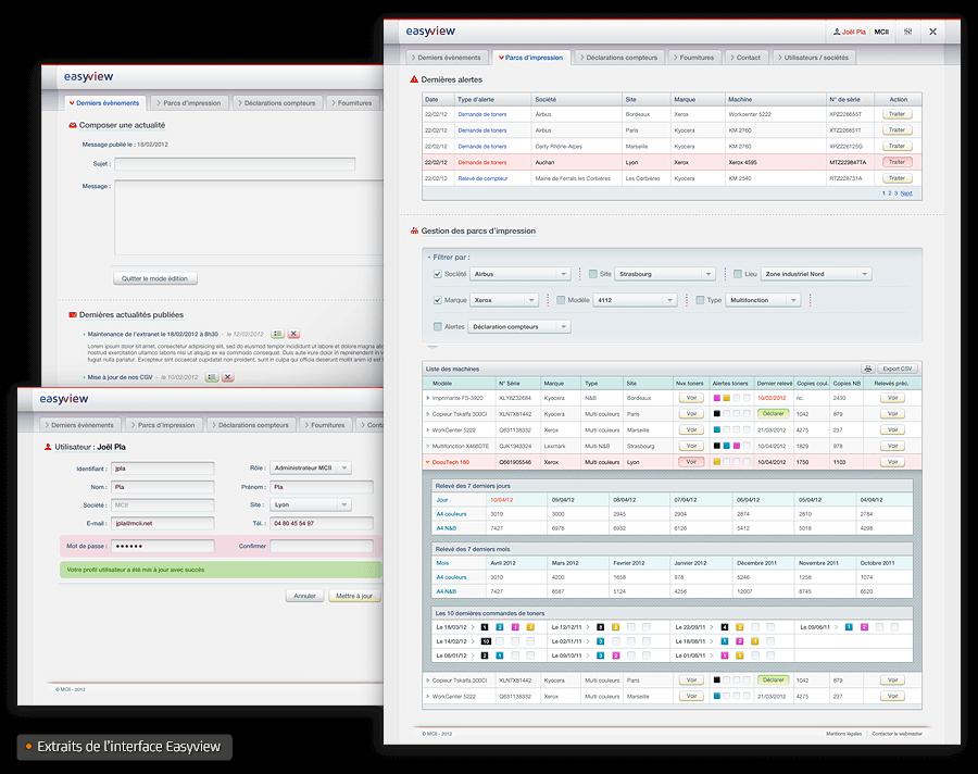 Interface logiciel Easyview MCII