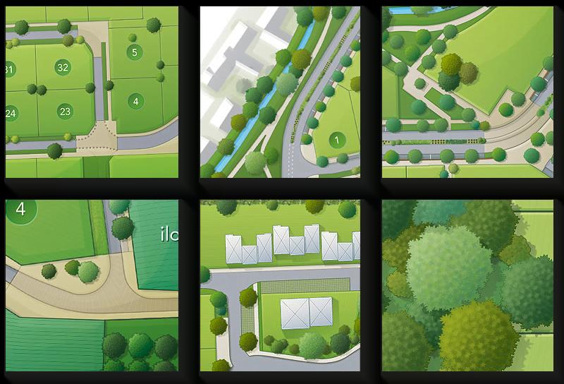 Vignettes de détails des plans Nexity