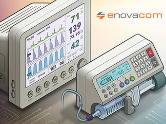 Illustrations de matériels médicaux pour Enovacom
