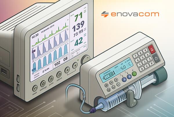 Vignette illustration vectorielle de matériels médicaux