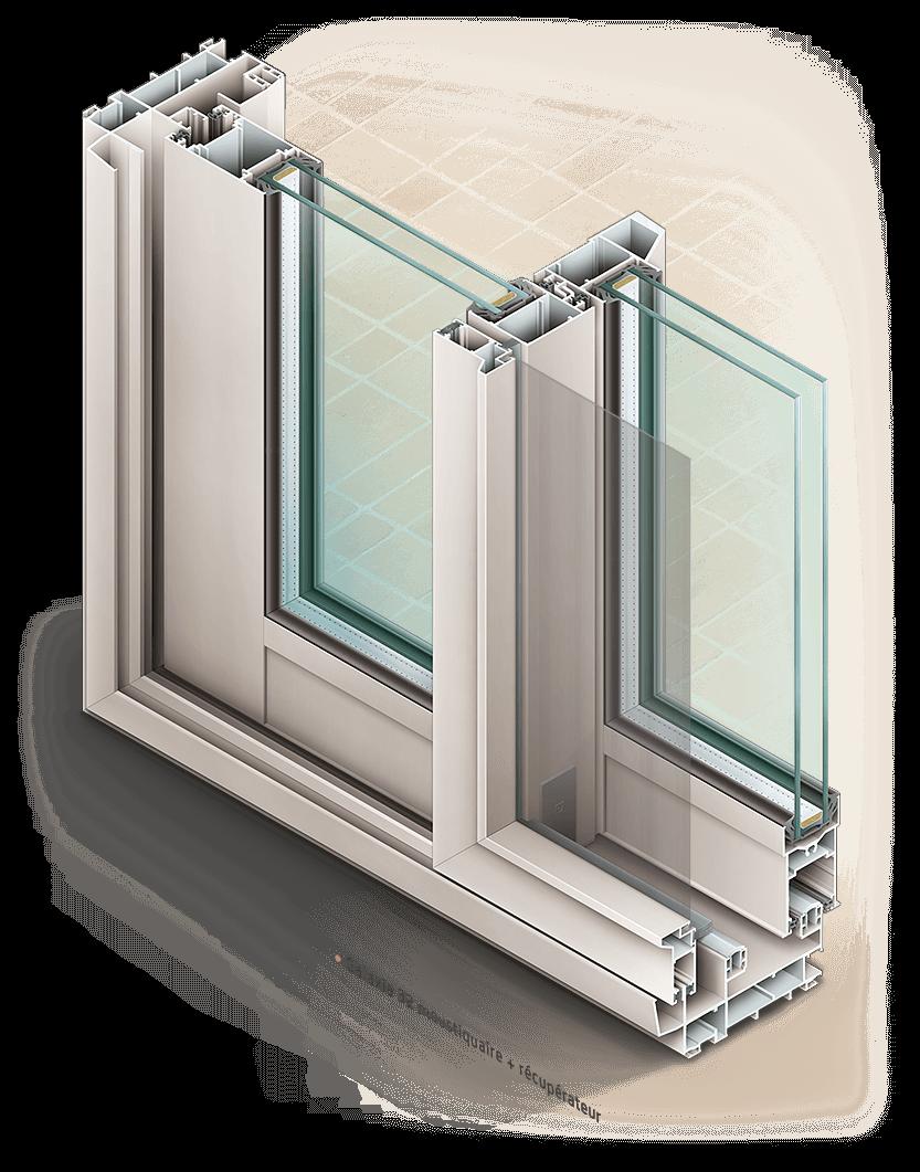 Illustration de fenêtre coulissantes Installux
