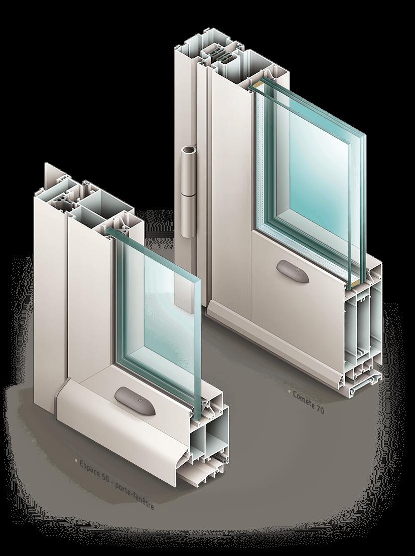 Illustrations de fenêtres et volets Installux Aluminium / S2 - image Illustration-porte-fenetre-Installux-Comete-50-et-Espace-70 on https://www.philippe-mignotte.fr