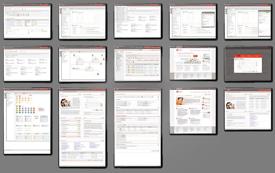 Design des écrans d'interface graphique de la plateforme VDoc 2012
