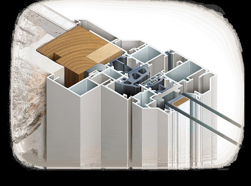 Illustrations de fenêtres Installux Aluminium - image Detail-illustration-section-fenetre-Installux-Espace-50 on https://www.philippe-mignotte.fr