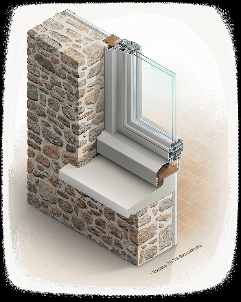 Illustration de fenêtre Installux : Espace 70TH Renovation