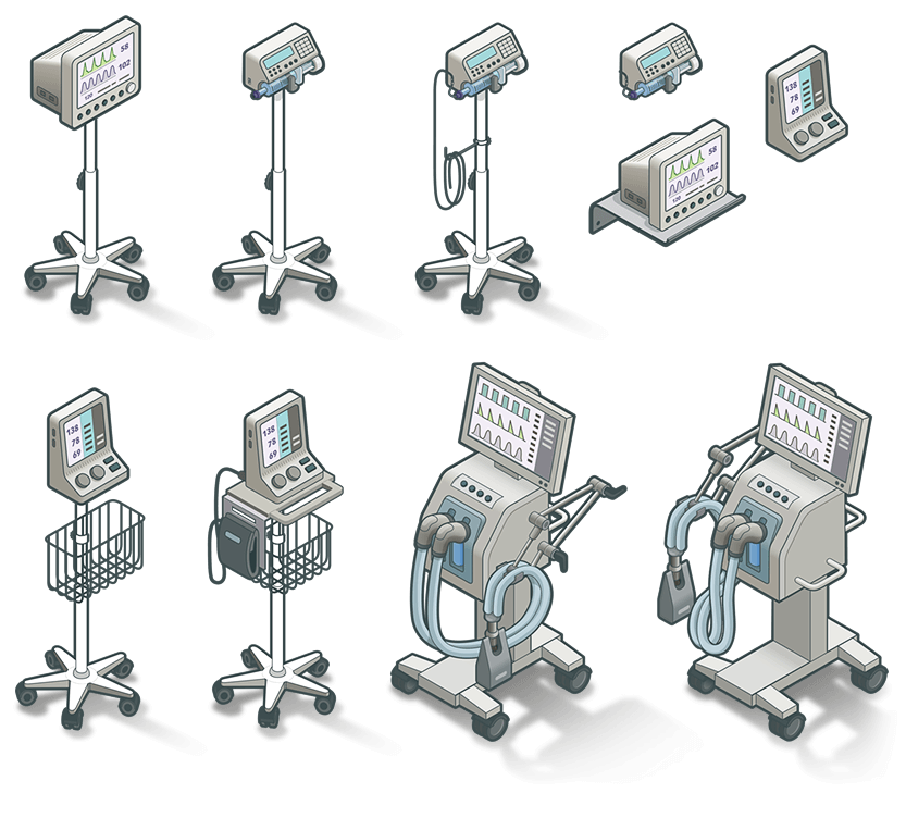 Illustrations de matériels médicaux pour Enovacom - image Illustrations-vectorielles-appareils-medicaux-enovacom on https://www.philippe-mignotte.fr