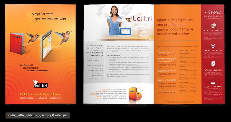 Plaquette commerciale du logicielle Colibri par Apleo Software.