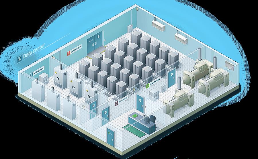 Illustration isométrique d'un data center - image Illustration-isometrique-data-center_netsoft-assur on https://www.philippe-mignotte.fr