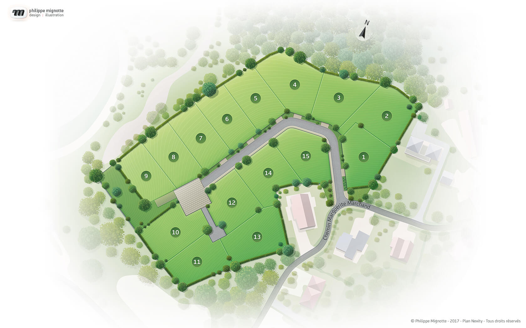 Illustrations plans paysagers Nexity - image Illustration-plan-Paysager-Domaine-Tilleroyes_Besancon-Nexity on https://www.philippe-mignotte.fr