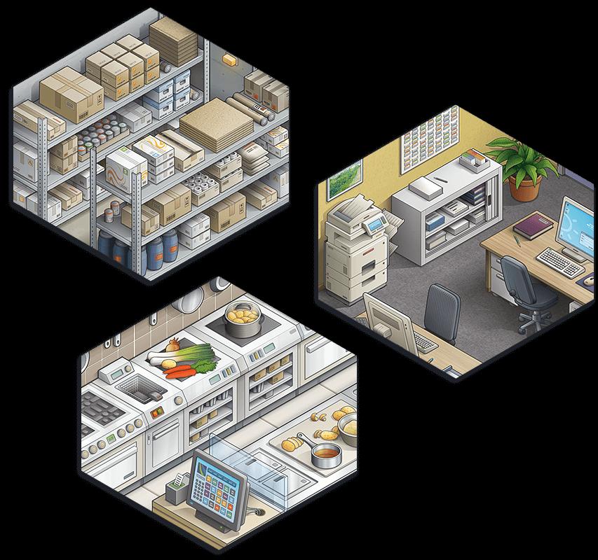 Illustration isométrique d'un bâtiment pour SADIES - image Illustration-isometrique-Sadies-details-pieces-batiment on https://www.philippe-mignotte.fr